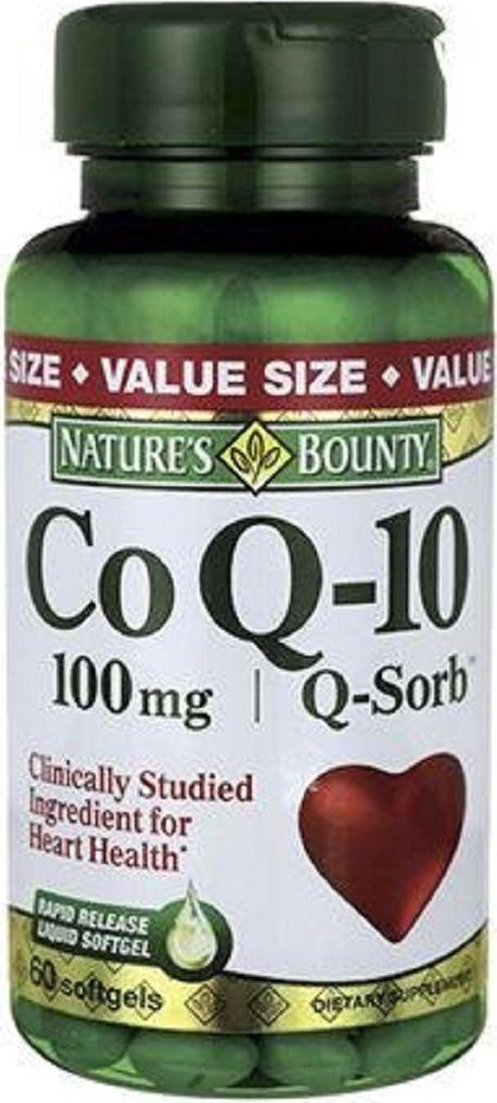 Коэнзим Q-10 Nature's Bounty, капсулы 100 мг, №60 солгар нутрикоэнзим q 10 50 капсулы