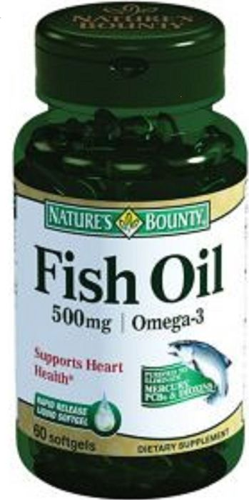 Нэйчес Баунти Рыбий жир Омега-3 капсулы 500 мг №60, Nature's Bounty