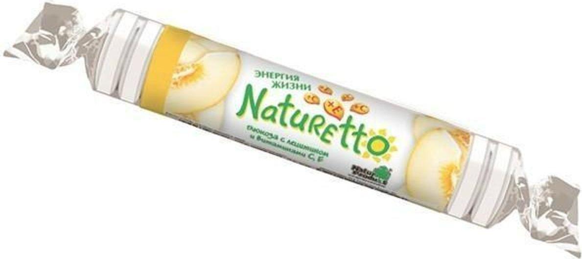 Натуретто глюкоза с лецитином и витаминами C, E таблетки жевательные №17 (со вкусом дыни) Натуретто
