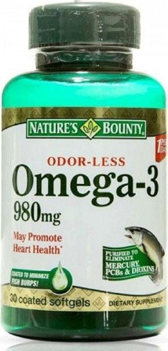Нэйчес Баунти Омега-3 капсулы 980 мг №30219521Омега-3 ПНЖК 980 мг Сфера применения: ВитаминологияОмега