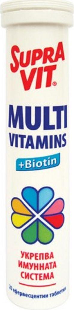 Суправит МультиВит шип. таблетки №20221072В качестве биологически активной добавки к пище, дополнительного источника витаминов; Сфера применения: ВитаминологияМакро- и микроэлементы