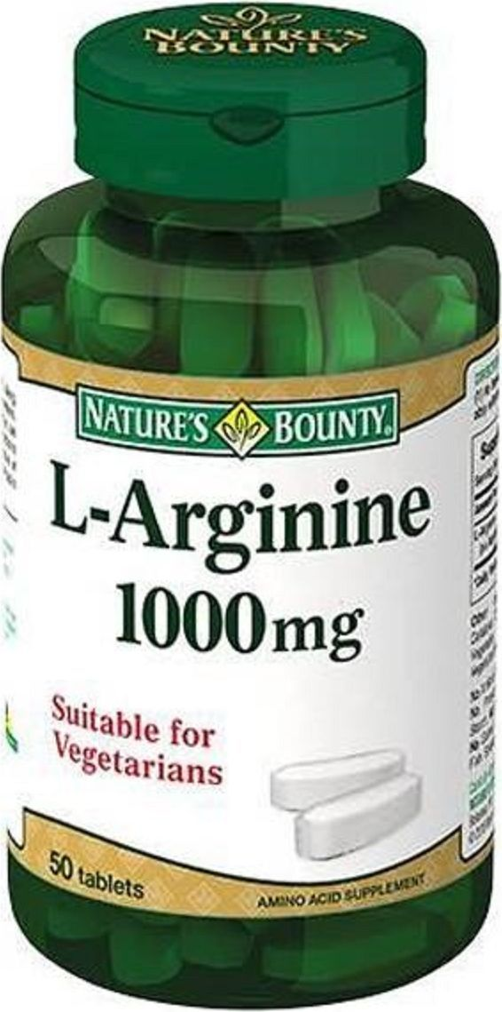 Таблетки Natures Bounty L-Аргинин, 1000 мг, 50 шт221463L-аргинин - аминокислота, участвующая в процессах образования энергии в мышцах и регулирующая мышечный метаболизм. L-аргинин увеличивает уровень оксида азота в организме и за счет этого оказывает сосудорасширяющее действие, тем самым улучшая приток крови к мышцам и основным органам организма. L-аргинин повышает эффективность тренировок и увеличивает выносливость при физических нагрузках за счет улучшения питания мышц. Также L-аргинин улучшает потенцию и эректильную функцию у мужчин, облегчая приток крови к половым органам.