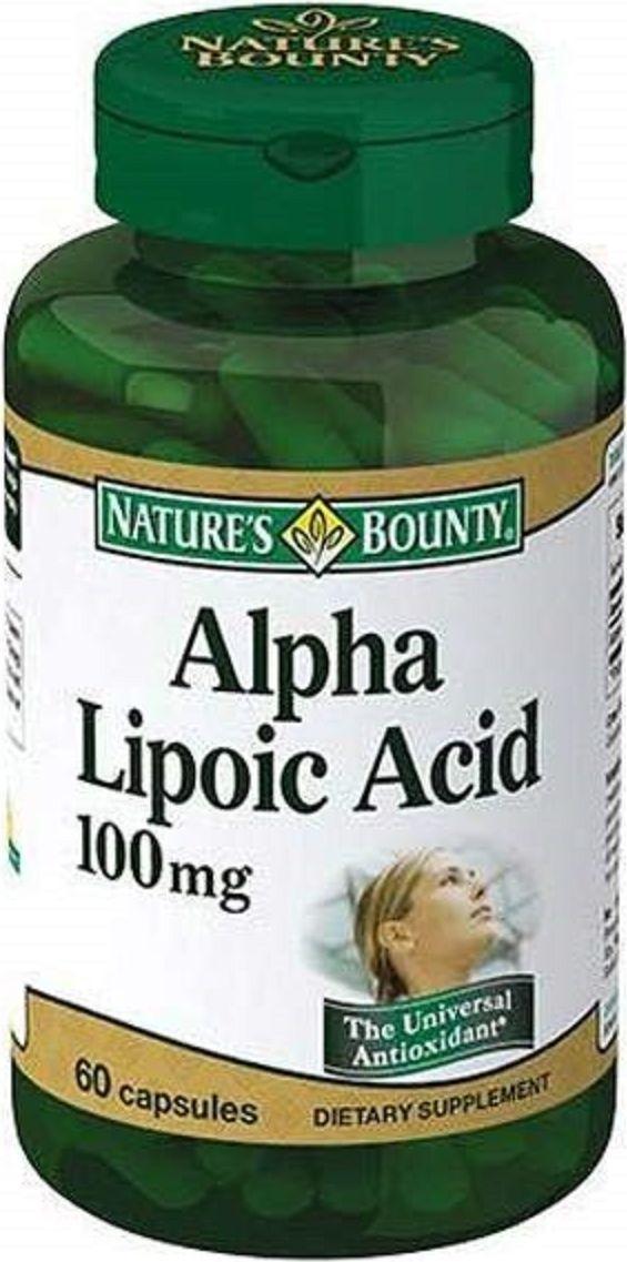 Альфа-липоевая кислота Nature's Bounty, капсулы 100 мг, №60 альфа липоевая кислота капсулы 30 шт