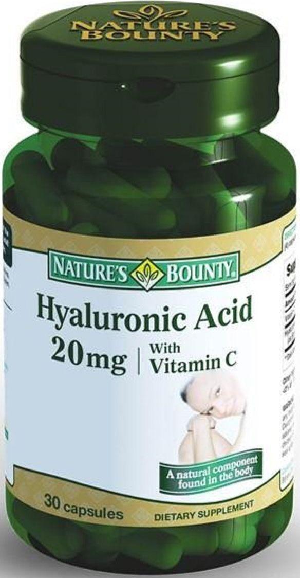 Гиалуроновая кислота Nature's Bounty, капсулы 20 мг, №30