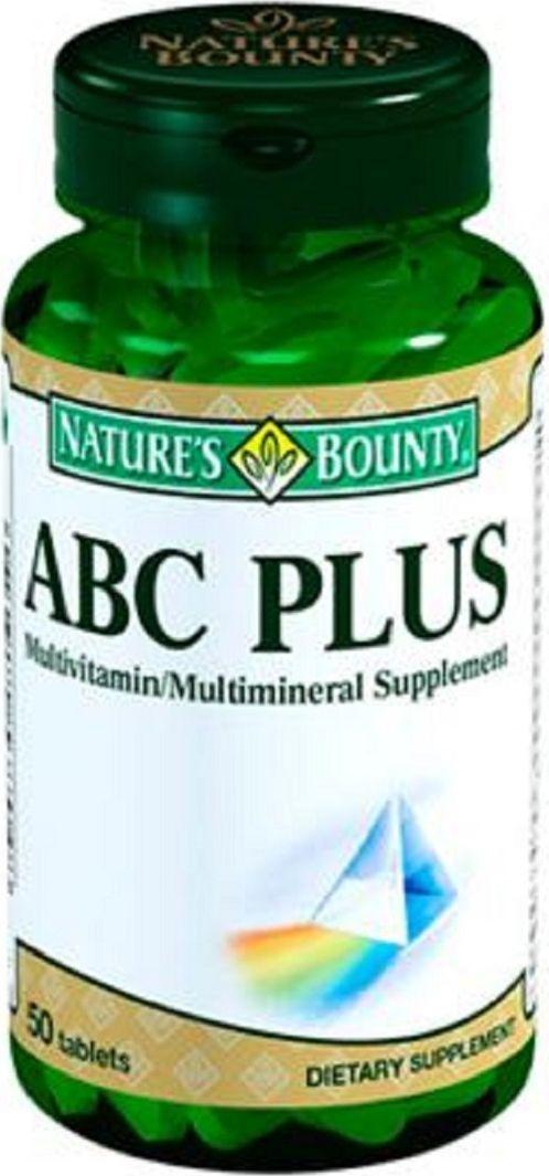 Мультивитаминный комплекс Natures Bounty ABC Plus, таблетки 1290 мг, №50221469ABC Plus - это сбалансированный витаминно-минеральный комплекс для ежедневной поддержки организма.В состав ABC Plus входит 13 витаминов (С, А, D, E, К а также биотин и витамины группы В и 15 микро- и макроэлементов. Среди них можно выделить кальций и фосфор, необходимые для здоровья костей и зубов, калий и магний для поддержания электролитного баланса, йод и селен для нормализации функции щитовидной железы и такие эссенциальные элементы как железо, цинк, хром, кремний, медь, марганец, бор, молибден и ванадий. Сфера применения: витаминология, макро- и микроэлементы.