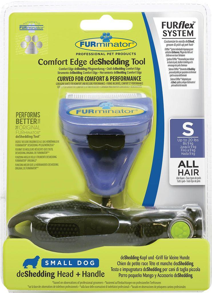 Насадка - фурминатор для собак мелких пород FURminator, с ручкой, длина лезвия 4,5 см фурминатор для собак короткошерстных пород furminator short hair large dog
