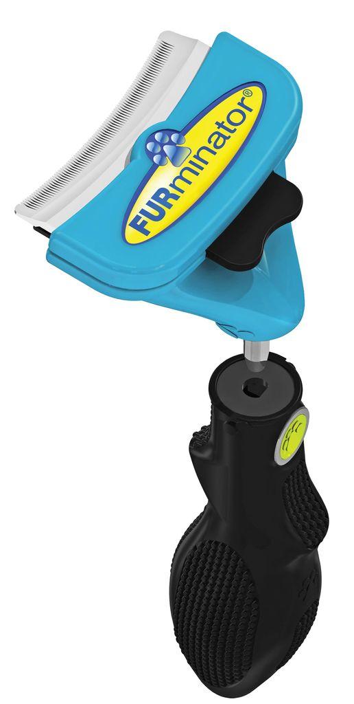 Насадка  фурминатор для собак средних пород  FURminator , с ручкой, длина лезвия 6,8 см - Товары для ухода (груминг)