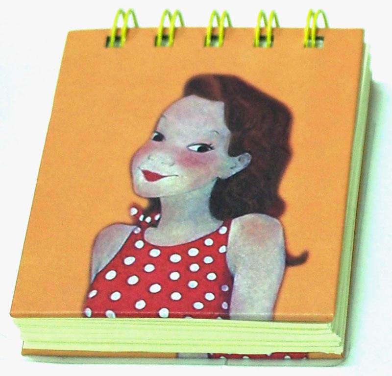 Карамба Блокнот Девочка в платье в горошек 80 листов в линейку004763
