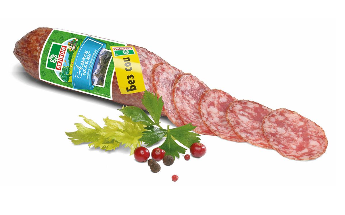 Велком Альпен салями сырокопченая, 230 г велком кальяри колбаса сырокопченая 235 г