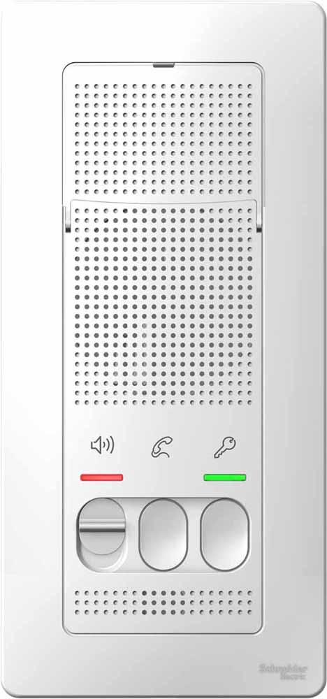 Вызывная панель Schneider Electric Blanca, переговорное устройство, цвет: белый. SE BLNDA000011 панель лицевая schneider electric actassi 1 модуль белый 24 шт vdi88240