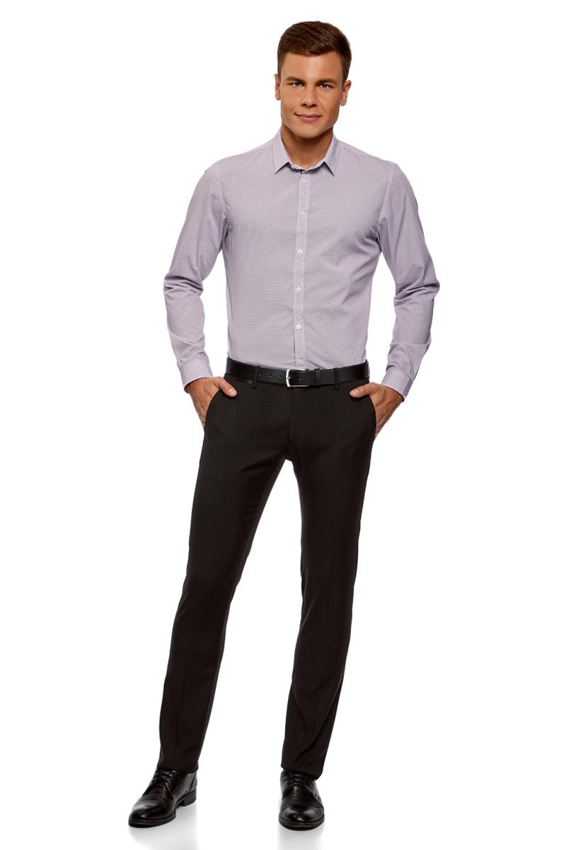 Рубашка мужская oodji Lab, цвет: белый. 3L110261M/19370N/1083G. Размер 39 (46-182)3L110261M/19370N/1083GМужская рубашка oodji с длинными рукавами изготовлена из натурального хлопка. Рубашка застегивается на пуговицы. Манжеты рукавов и воротник дополнены застежками-пуговицами.