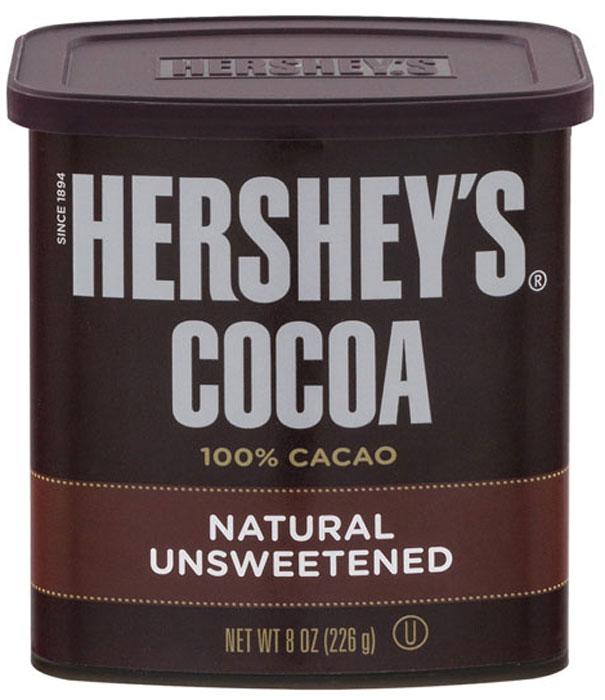 Hershey's какао 100% без сахара, 226 г