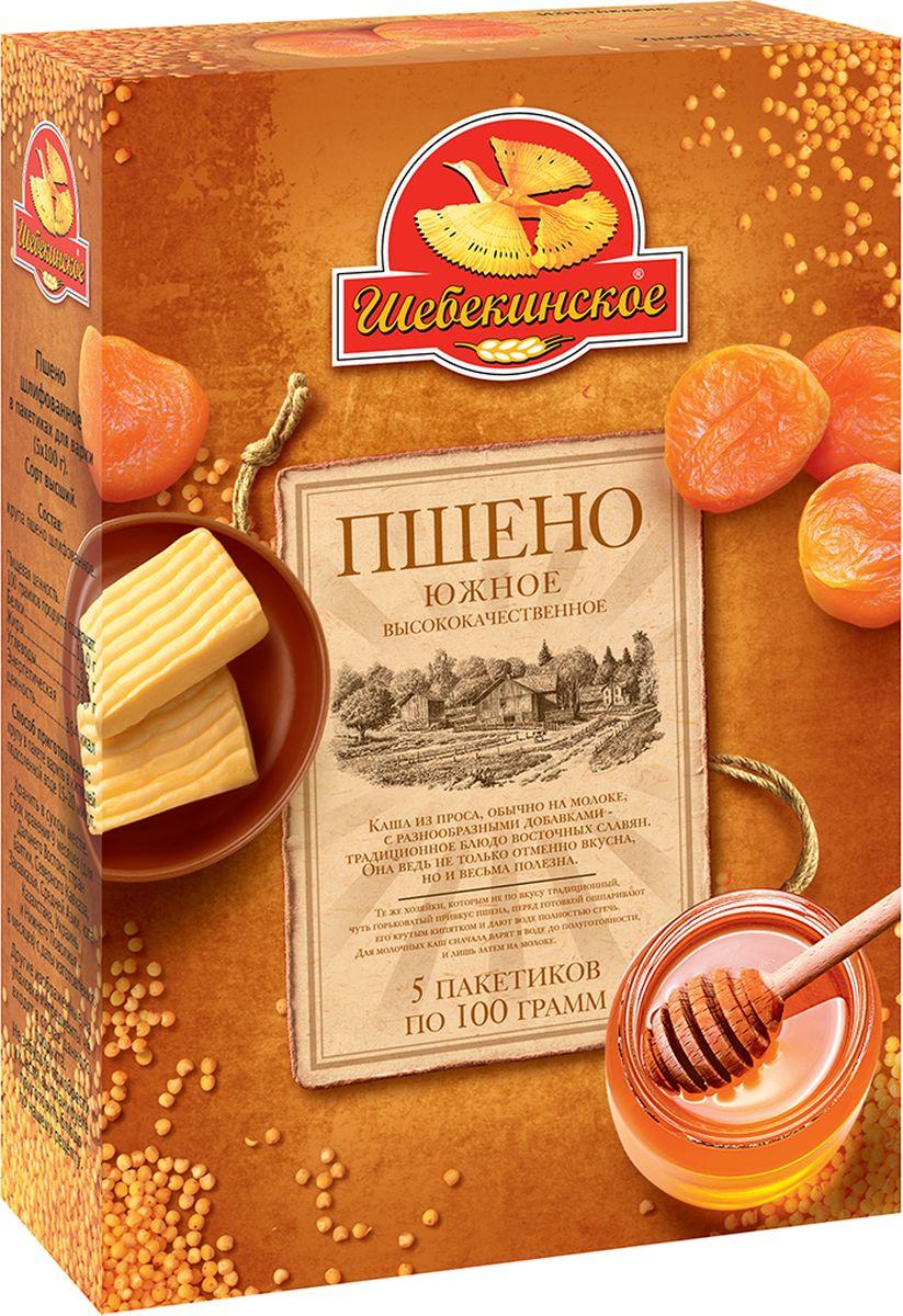 Шебекинское пшено южное в пакетиках для варки, 5 шт. по 100 г4607001851110