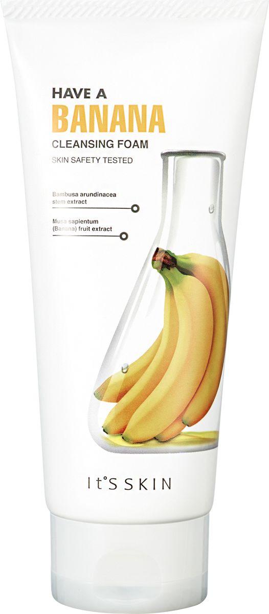 Its Skin ПитательнаяпенкаХэвэБанана,150 мл6020000817Пенка для умывания содержит экстракт банана, гидроксид калия, бетаин, экстракт бамбука, гиалуроновую кислоту и т.д., Уменьшает глубину и количество морщин, улучшает микрорельеф кожи. Активно увлажняет кожу. Пенка придает и сохраняет эластичность кожи, очищает повседневные загрязнения, удаляет макияж.