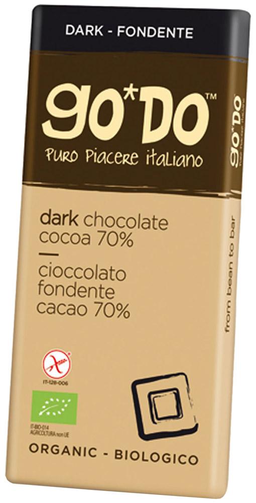 Icam Godo шоколад органический горький 70% какао, 35 гК1071Шоколад ГОДО органический горький 70% какао 35 г. Органический шоколад из Италии высшего качества. Великолепный вкус шоколада является неотъемлемой частью наслаждения жизнью. Уникальная упаковка.
