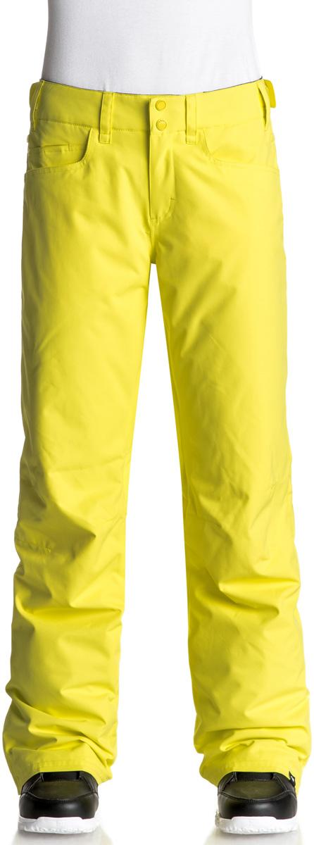 Брюки утепленные женские Roxy Backyard, цвет: желтый. ERJTP03045-YFK0. Размер M (44)ERJTP03045-YFK0Брюки Roxy Backyard выполнены из плотного материала с водоотталкивающей непродуваемой мембраной 10K DryFlight, утеплитель Warmflight (60 г). Все основные швы проклеены. Система пристегивания: куртку и штаны можно пристегнуть друг к другу. Пояс дополнен регулировкой размера. Вентиляция: прорези в штанинах на сеточной подкладке. Края штанин можно присобирать и подтягивать повыше за счет специального троса, низ штанин со вставкой на кнопке, удобные гейтеры из тафты.