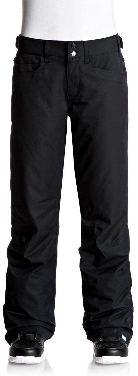 Брюки утепленные женские Roxy Backyard, цвет: черный. ERJTP03045-KVJ0. Размер XL (48)ERJTP03045-KVJ0Брюки Roxy Backyard выполнены из плотного материала с водоотталкивающей непродуваемой мембраной 10K DryFlight, утеплитель Warmflight (60 г). Все основные швы проклеены. Система пристегивания: куртку и штаны можно пристегнуть друг к другу. Пояс дополнен регулировкой размера. Вентиляция: прорези в штанинах на сеточной подкладке. Края штанин можно присобирать и подтягивать повыше за счет специального троса, низ штанин со вставкой на кнопке, удобные гейтеры из тафты.