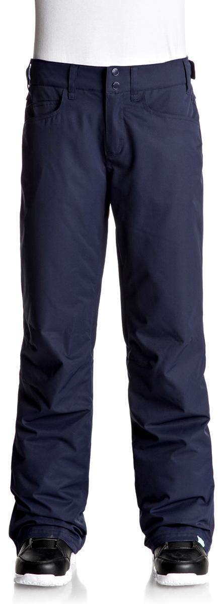 Брюки утепленные женские Roxy Backyard, цвет: синий. ERJTP03045-BTN0. Размер S (42)ERJTP03045-BTN0Брюки Roxy Backyard выполнены из плотного материала с водоотталкивающей непродуваемой мембраной 10K DryFlight, утеплитель Warmflight (60 г). Все основные швы проклеены. Система пристегивания: куртку и штаны можно пристегнуть друг к другу. Пояс дополнен регулировкой размера. Вентиляция: прорези в штанинах на сеточной подкладке. Края штанин можно присобирать и подтягивать повыше за счет специального троса, низ штанин со вставкой на кнопке, удобные гейтеры из тафты.