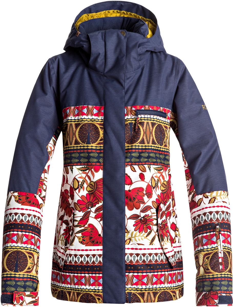 Куртка женская Roxy Torah Bright, цвет: синий. ERJTJ03144-RZB6. Размер XS (40)ERJTJ03144-RZB6Куртка женская Roxy Torah Bright выполнена из полиэстера. Модель с длинными рукавами и капюшоном застегивается на молнию.