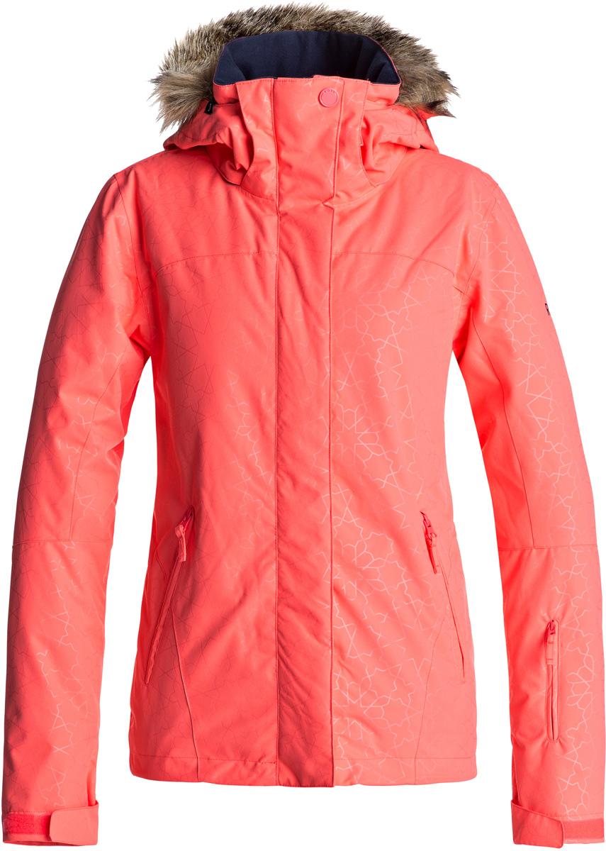 куртка женская roxy jet ski цвет синий erjtj03124 bfk9 размер s 42 Куртка женская Roxy Jet Ski, цвет: коралловый. ERJTJ03131-NKN3. Размер XS (40)