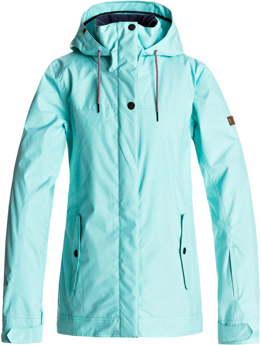 куртка женская roxy billie цвет бирюзовый erjtj03121 bfk0 размер s 42 Куртка женская Roxy Billie, цвет: бирюзовый. ERJTJ03121-BFK0. Размер XS (40)
