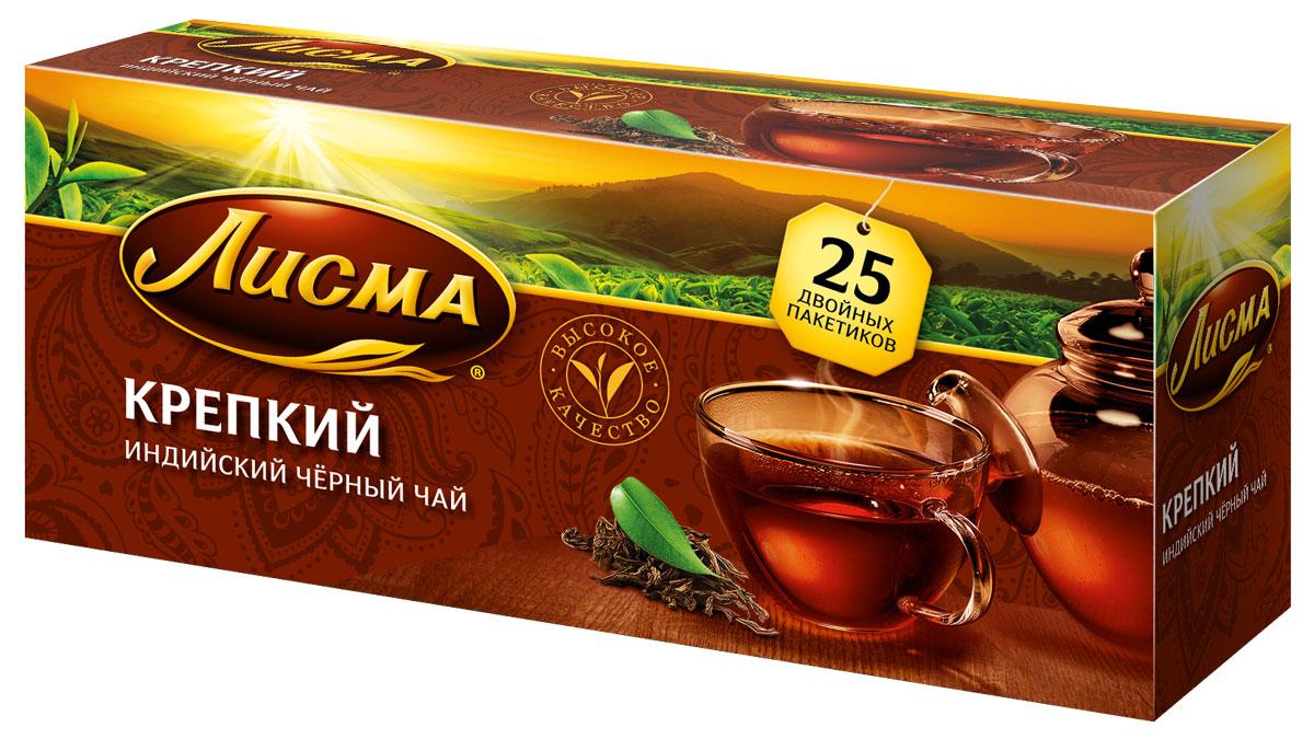 Лисма Крепкий черный чай в пакетиках, 25 шт чай черный с бергамотом альманах 25 пакетиков по 2г