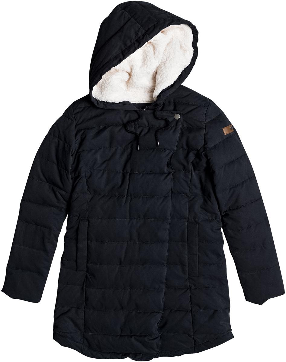 Парка женская Roxy Glassy Coast, цвет: черный. ERJJK03204-KVJ0. Размер XS (40) парка katrus парка