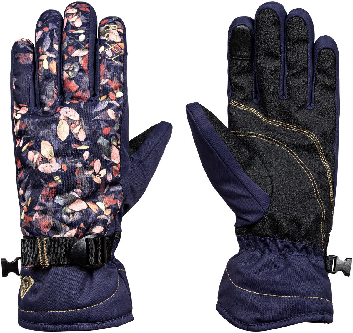 Перчатки женские Roxy, цвет: синий. ERJHN03068-BTN4. Размер L (7,5)ERJHN03068-BTN4