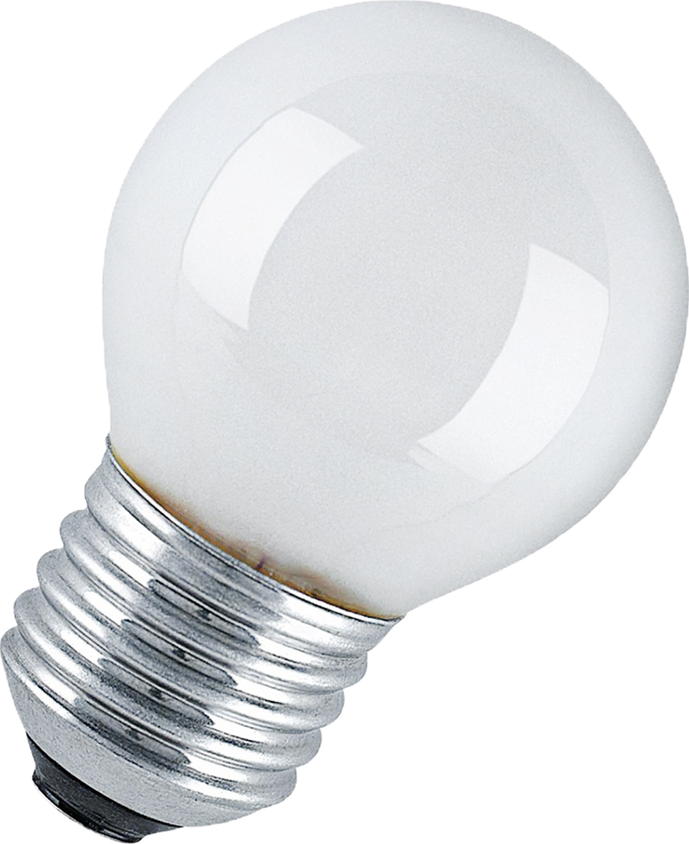 Лампа накаливания Osram Classic P FR 25W E27 40083214116864008321411686Конструкция лампы состоит из стеклянной колбы, заполненной инертным газом. Основу устройства составляет тело накала или вольфрамовая спираль, которая под воздействием электрического тока начинает излучать свечение. Лампы накаливания используются для всеобщего, местного и наружного освещения в быту и промышленности в сетях переменного тока напряжением 220 В частотой 50 Гц.