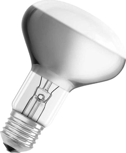 Лампа накаливания Osram Concentra R80 75Вт E27 40528991823564052899182356Конструкция лампы состоит из стеклянной колбы, заполненной инертным газом. Основу устройства составляет тело накала или вольфрамовая спираль, которая под воздействием электрического тока начинает излучать свечение. Лампы накаливания используются для всеобщего, местного и наружного освещения в быту и промышленности в сетях переменного тока напряжением 220 В частотой 50 Гц.