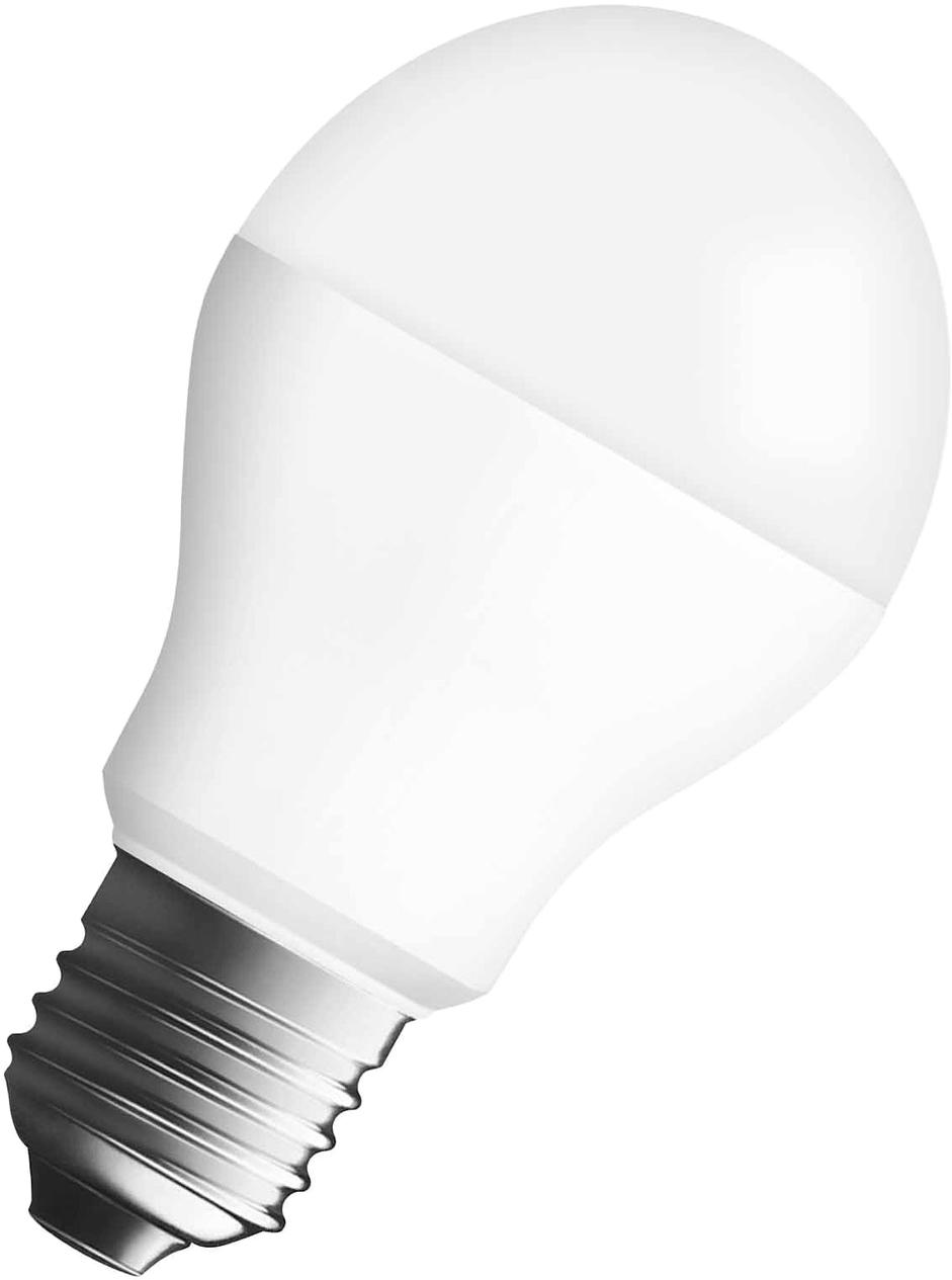 Лампа светодиодная Osram Classic A 60 10W/827 220-240V E27 40528992135934052899213593Светодиодные энергосберегающие лампы потребляют на 70% меньше электроэнергии, что не только экономит деньги, но и снижает нагрузку на проводку. Свет, который излучают светодиодные светильники, не раздражает глаза и может быть разным по интенсивности и световой температуре. Они легко монтируются в стены и потолки, в том числе и в натяжные. Разнообразный дизайн позволяет подобрать светодиодные лампы для любого пространства.
