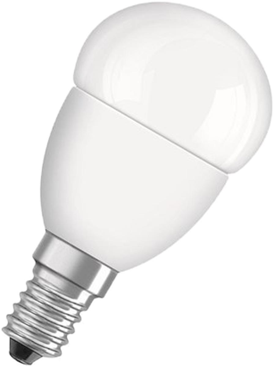 Лампа светодиодная Osram Value Classic P 40 5W/840 220-240V FR E14 40528999733434052899973343VALUE CLASSIC A - светодиодные лампы шарообразной формы. В качестве источника света используют светодиоды (англ. Light-Emitting Diode, сокр. LED), применяются для бытового, промышленного и уличного освещения. Светодиодная лампа является одним из самых экологически чистых источников света. Принцип свечения светодиодов позволяет применять в производстве и работе самой лампы безопасные компоненты. Светодиодные лампы не используют веществ, содержащих ртуть, поэтому они не представляют опасности в случае выхода из строя или повреждения колбы.