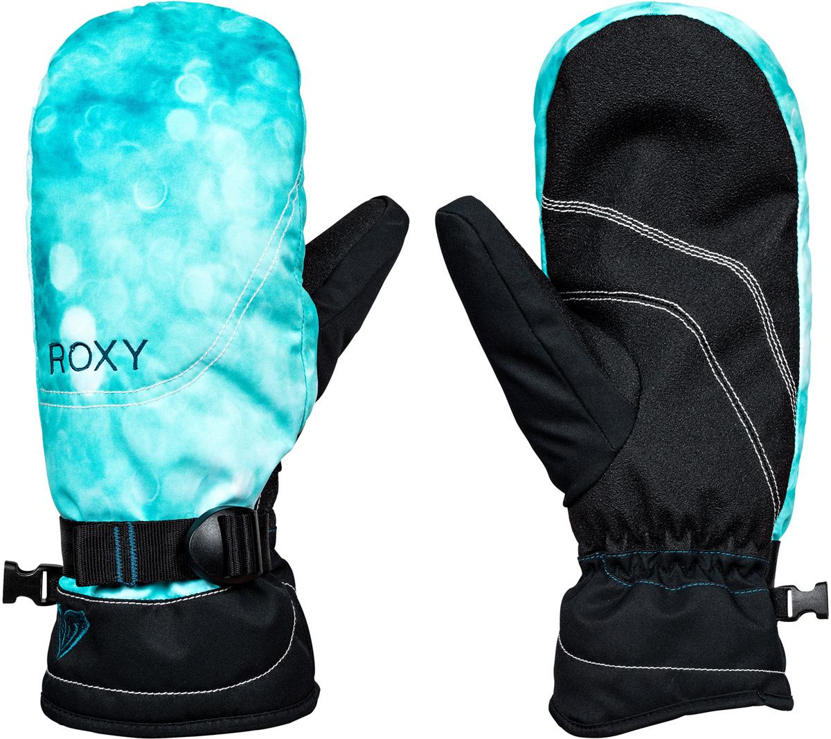 Варежки женские Roxy Jetty, цвет: черный. ERJHN03064-BSF6. Размер M (7)ERJHN03064-BSF6Женские варежки Roxy Jetty фиксированной формы выполнены из высококачественного материала, утеплены Warmflight (170 г). Водостойкая вставка DryFlight, а также трикотажная подкладка с начесом. Манжеты дополнены регулировкой размера за счет стрепа.