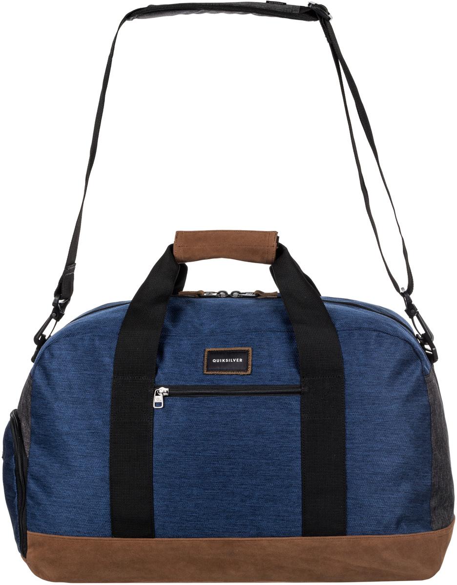 Сумка мужская Quiksilver, цвет: синий. EQYBL03096-BTE0EQYBL03096-BTE0Мужская спортивная сумка среднего размера изготовлена из прочного полиэстера. Внутри одно основное отделение на молнии. Снаружи карман на молнии и внешний доступ в отделение для обуви. Предусмотрены малая ручка для переноски и съемная заплечная лямка.