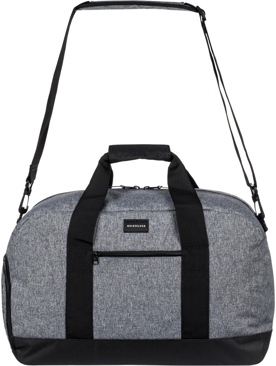 Сумка мужская Quiksilver, цвет: серый. EQYBL03096-SGRHEQYBL03096-SGRHМужская спортивная сумка среднего размера изготовлена из прочного полиэстера. Внутри одно основное отделение на молнии. Снаружи карман на молнии и внешний доступ в отделение для обуви. Предусмотрены малая ручка для переноски и съемная заплечная лямка.
