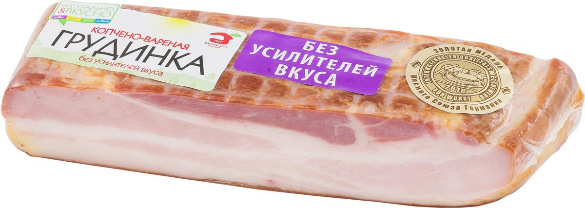 МД Бородина Грудинка копчено-вареная, 400 г1405Грудинка к/в кусок 400 г. Мясной продукт из свинины копчено-вареный, охлажденный