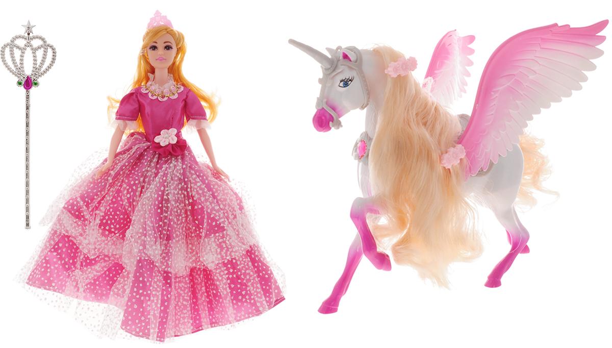 s s toys игровой набор дартс с дротиками 200003538 S+S Toys Игровой набор с куклой Magic Pegasus цвет розовый
