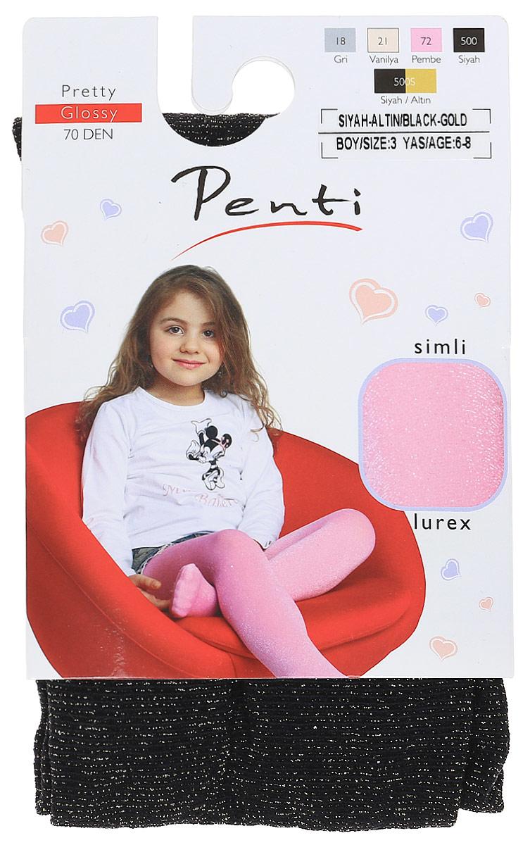 Колготки для девочки Penti Glossy 70, цвет: черный. m0c0327-0163 PNT_500s. Размер 4 (128/138) женская рубашка european and american big c002617 2015