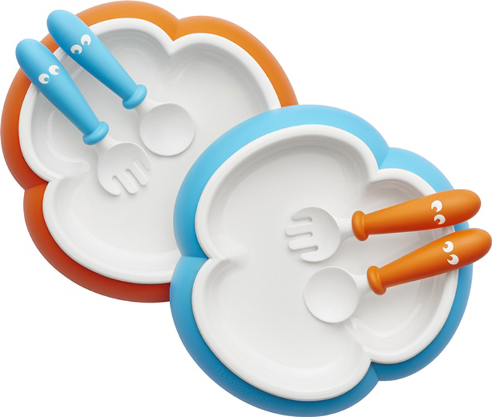 BabyBjorn Набор детской посуды цвет оранжевый бирюзовый 6 предметов -  Все для детского кормления