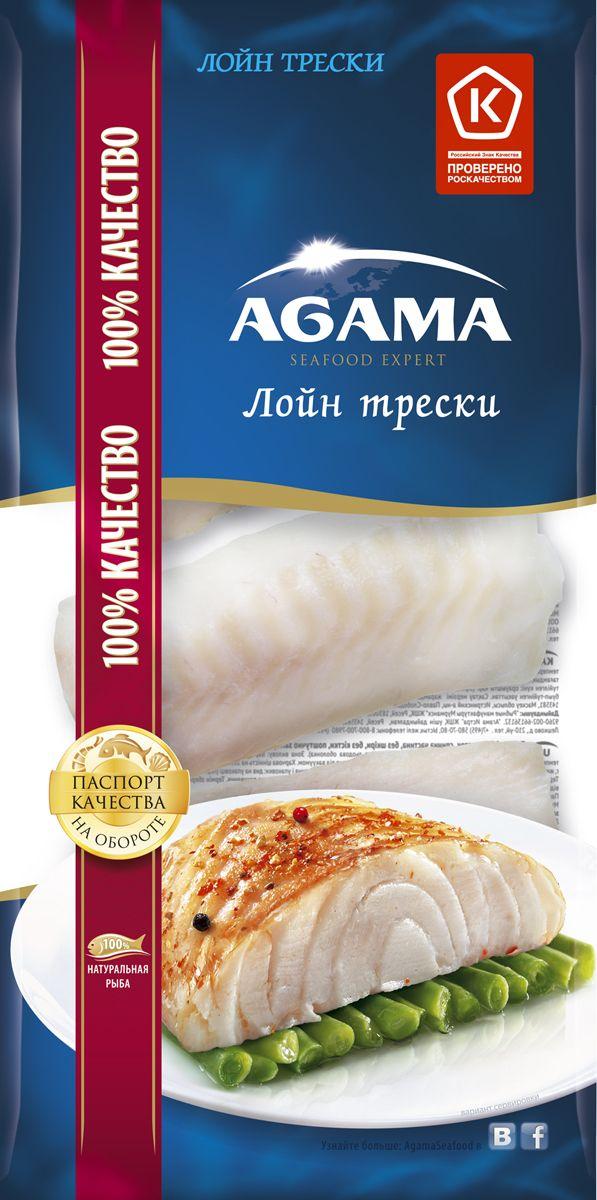 цены  Agama Треска филе (лойн) без кожи, 400 г
