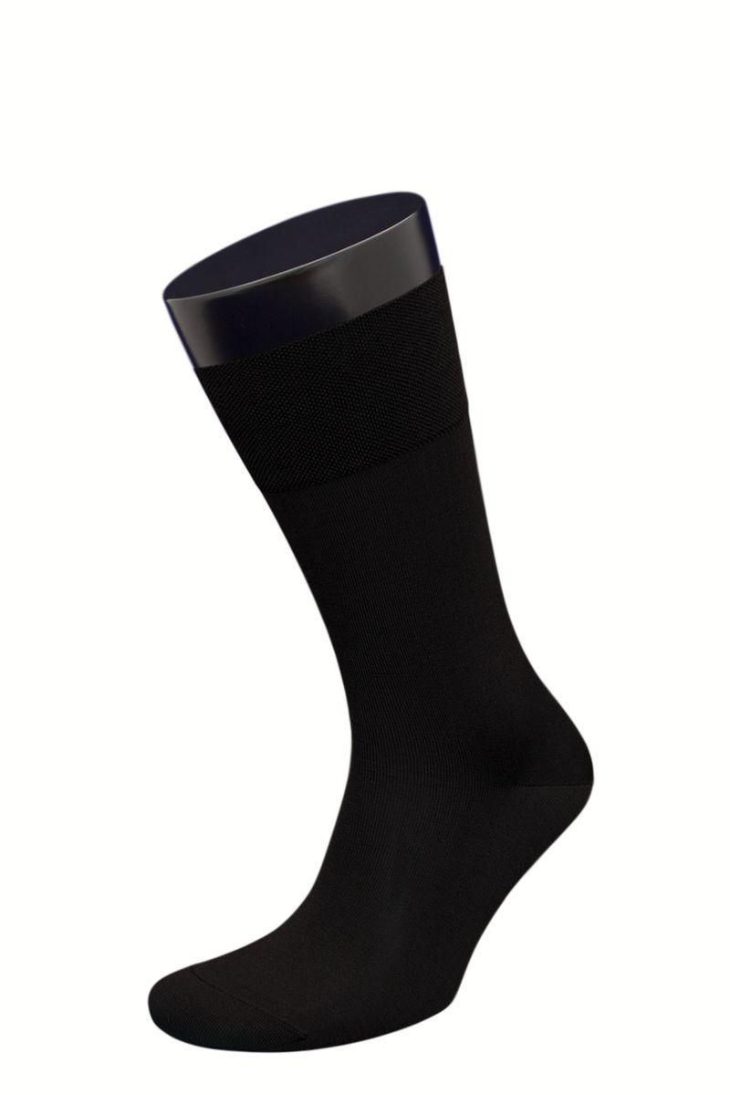 Носки мужские Гранд, цвет: черный, 2 пары. ZCmr159. Размер 27ZCmr159Элитные однотонные мужские носки из мерсеризованного хлопка: - основа материала – высококачественный хлопок; - бесшовная технология (кеттельный, плоский шов); - обладают повышенной воздухопроницаемостью; - не линяют после многочисленных стирок; - имеют оптимальную высоту паголенка; - мягкая анатомическая резинка; - усилены пятка и мысок. Носки долгое время сохраняют форму и цвет, а так же обладают терморегулирующими свойствами. В комплект входят две пары носок.