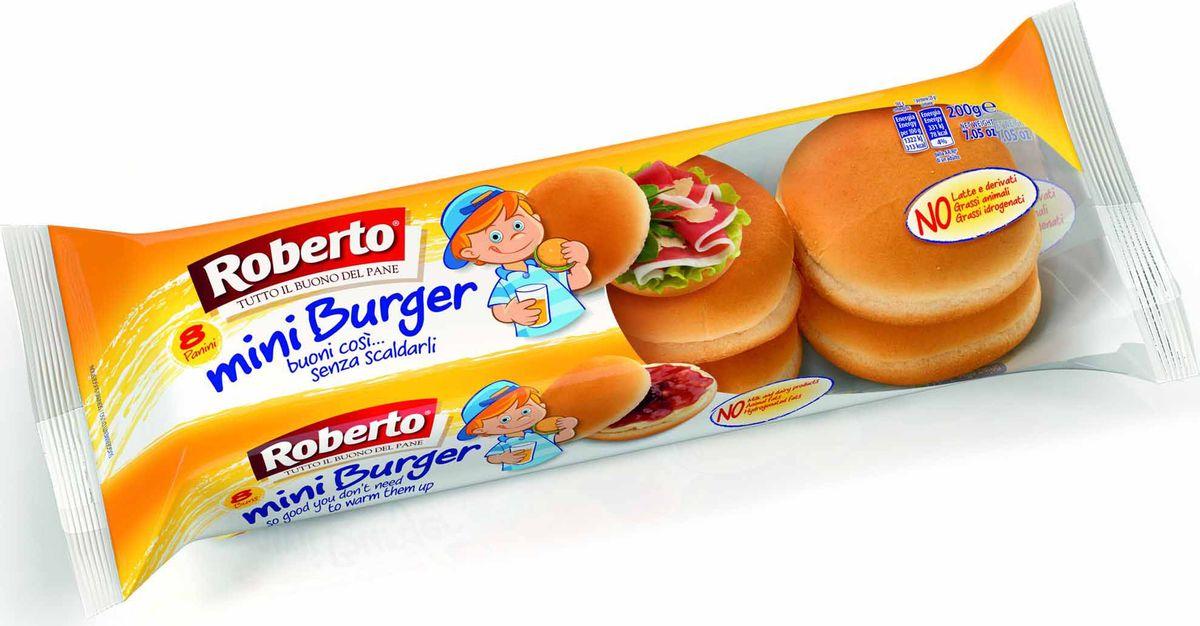 Roberto Мини-бургер 8 шт, 200 г3625Мини-бургер. Прекрасное решение для любителей бутербродов! Готовые мини - бургеры прекрасно сочетаются с домашними котлетками или просто с ветчиной и сыром.