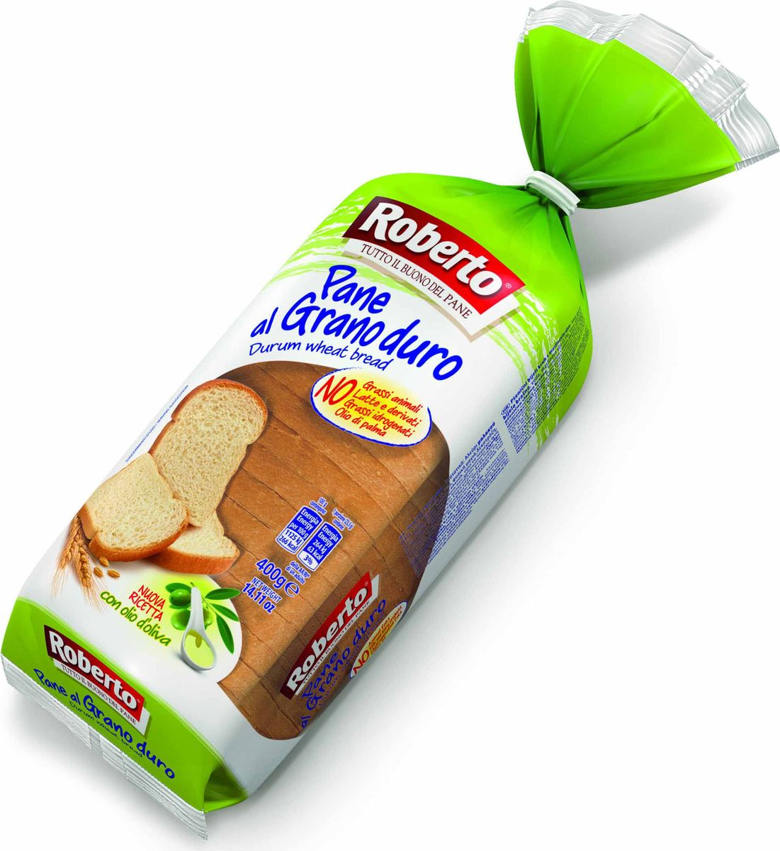 Roberto Хлеб из муки твердых сортов пшеницы, 400 г romeo rossi паста сицилийская из муки твердых сортов фузилли 500 г
