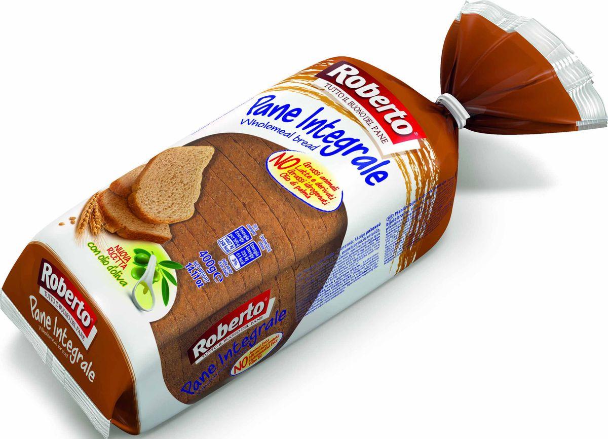 Roberto Хлеб из муки мягких сортов пшеницы c отрубями, 400 г хлебная смесь молочный хлеб