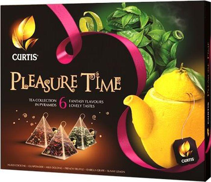 Curtis Pleasure Time желтый, чайное арома-ассорти в пирамидках, 53 г чудо стакан имбирь черный листовой чай 10 стаканов по 1 5 г