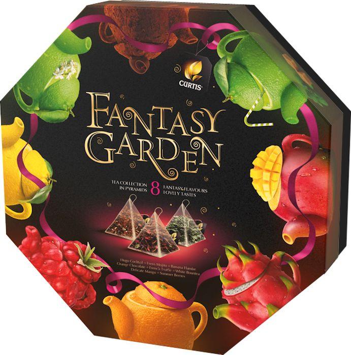 Curtis Fantasy Garden микс, чайное арома-ассорти в пирамидках, 70,5 г майский коллекция изысканных вкусов чайное ассорти черный чай в пакетиках 30 шт