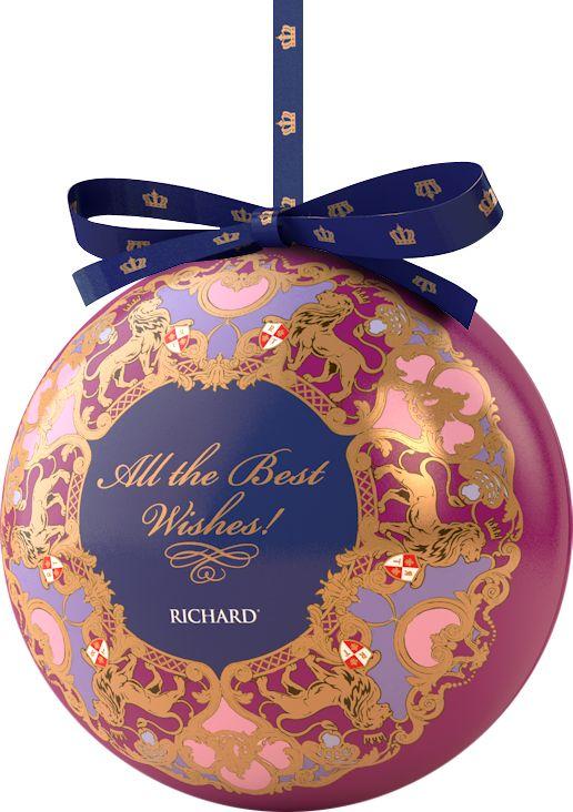 Richard Royal NY Ball фиолетовый, черный листовой чай, 40 г greenfield чай greenfield классик брекфаст листовой черный 100г