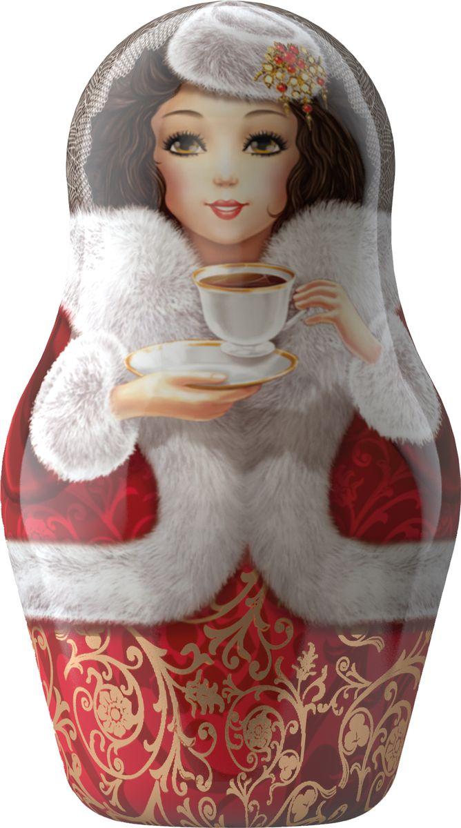 Майский Чайная матрешка, красная, черный листовой чай, 30 г
