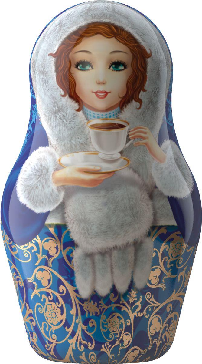 Майский Чайная матрешка, синяя, черный листовой чай, 30 г майский корона российской империи черный чай в пирамидках 20 шт