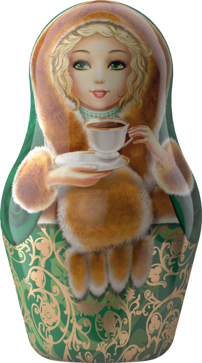 Майский Чайная матрешка, зеленая, черный листовой чай, 30 г майский корона российской империи черный чай в пирамидках 20 шт